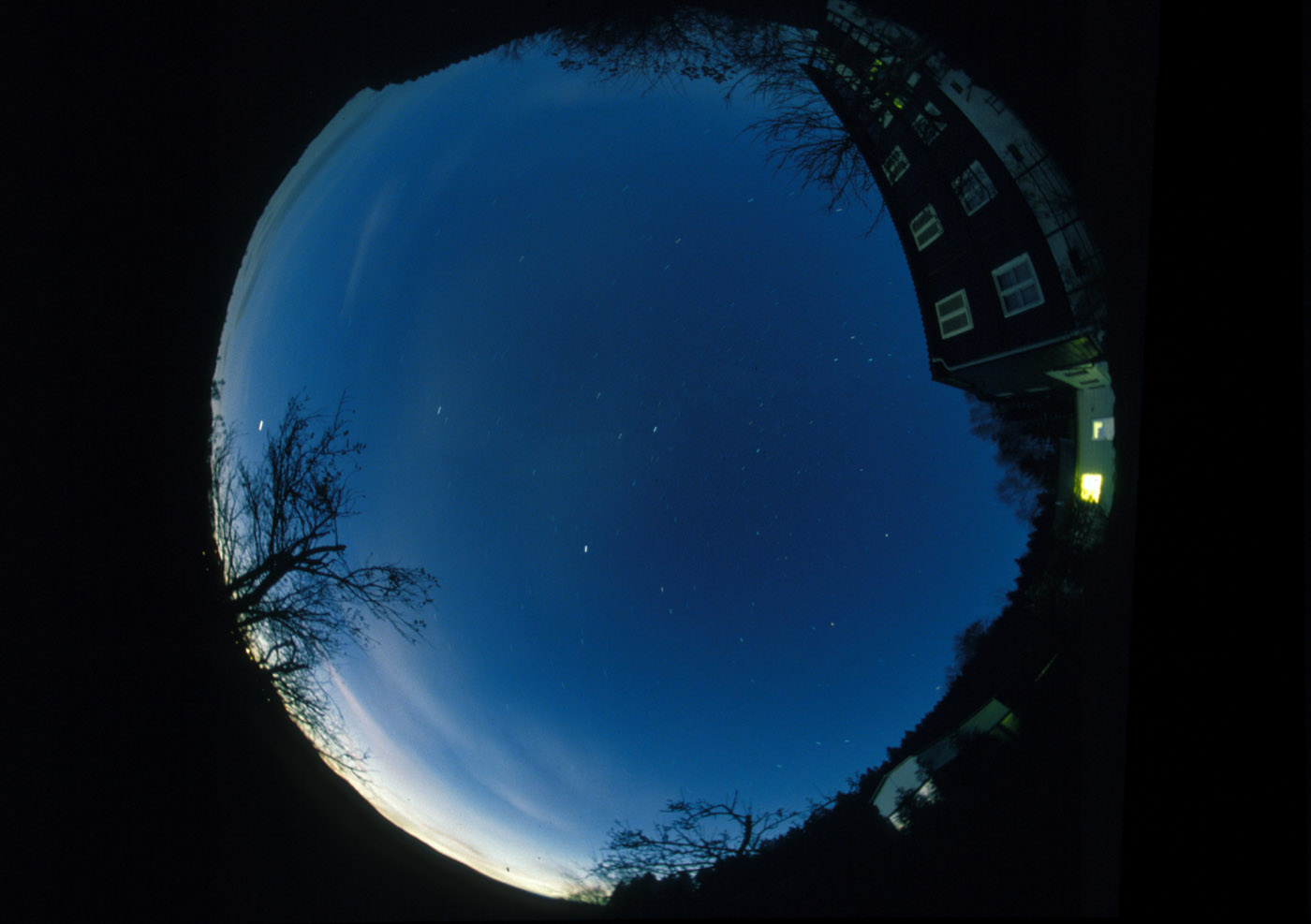 The twilight sky above the observatory